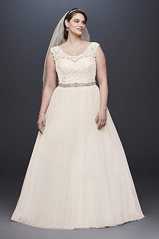 vestidos para novias curvy - tallas grandes - david's bridal