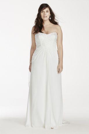 Plus size long white beach dresses