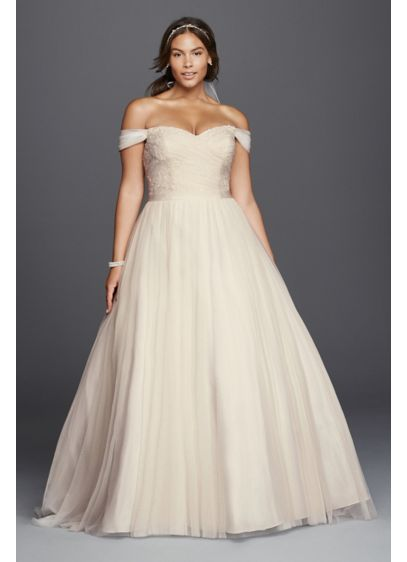 long ballgown romantic wedding dress davids bridal collection