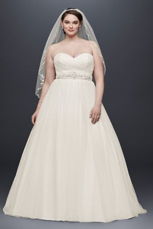 Captivating Long Ballgown Simple Wedding Dress   Davidu0027s Bridal Collection