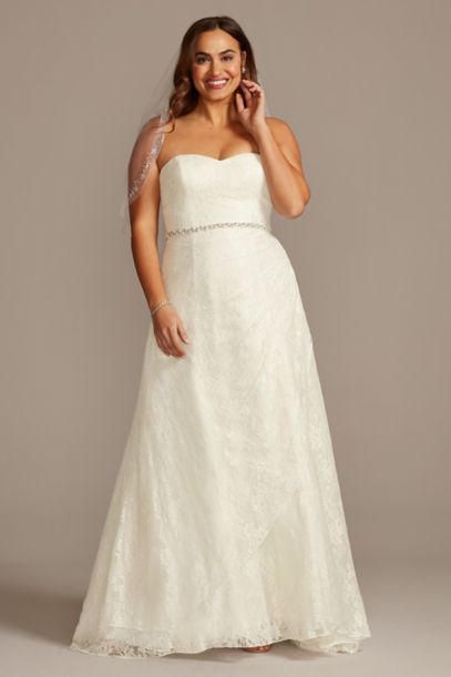 Allover Lace Plus Size A-Line Wedding Dress | David's Bridal