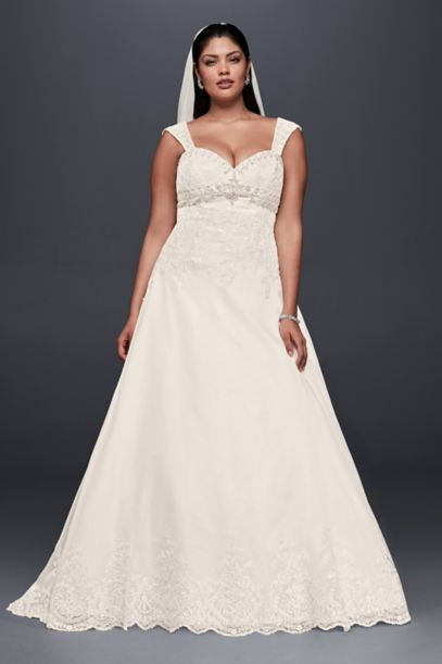 Plus Size Wedding Dress with Removable Straps | David's Bridal
