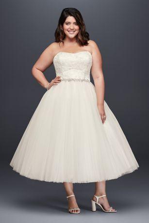 Tea Length Tulle Prom Dress