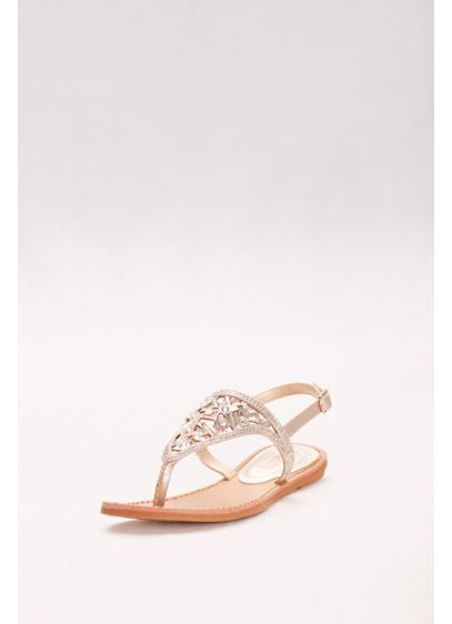 Blossom Ivory (Slingback Sandals with Heavy Crystal Beading)