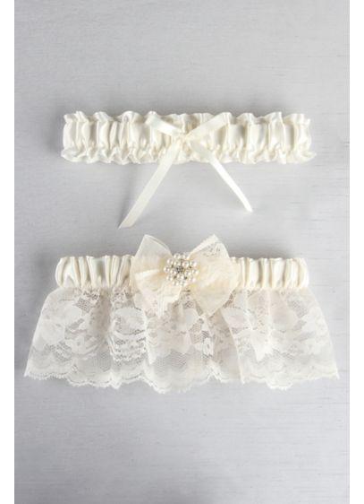 Ivory (Delilah Garter Set)