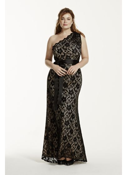 Long Sheath One Shoulder Military Ball Dress - Betsy and Adam