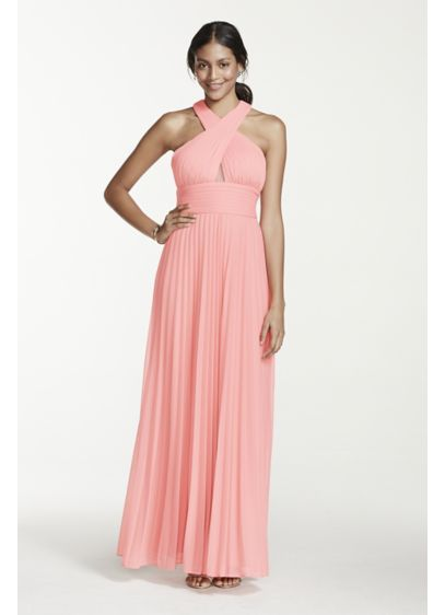 Long Sheath Halter Cocktail and Party Dress - Betsy and Adam