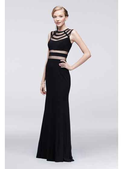 Long Sheath Cap Sleeves Prom Dress - Betsy and Adam