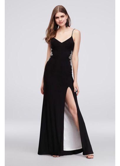 Long Sheath Spaghetti Strap Formal Dresses Dress - Betsy and Adam