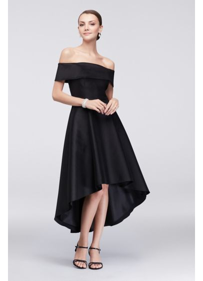 Off The Shoulder Taffeta Cocktail Dress David S Bridal