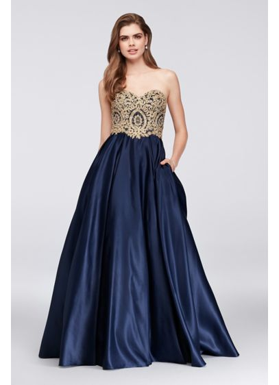 Long Ballgown Strapless Quinceanera Dress - Betsy and Adam