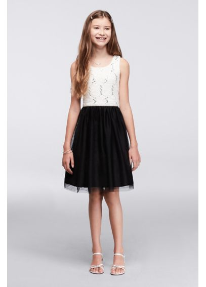 Sequin Lace and Tulle Girls Party Dress  A2952276I