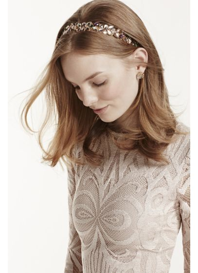 Multi Gemstone Stretch Headband - Wedding Accessories