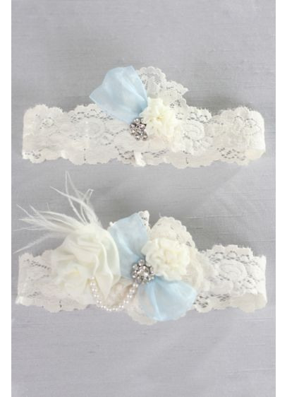 Something Blue Vintage Lace Garter Set - Wedding Gifts & Decorations