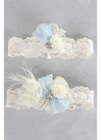 Something Blue Vintage Lace Garter Set - Wedding Gifts & Decorations