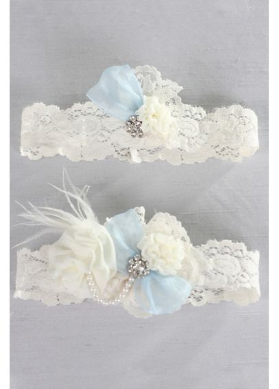 Something Blue Vintage Lace Garter Set A91400