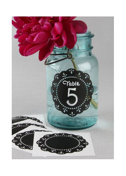 Round Doily Chalkboard Stickers Pack of 5 A91495