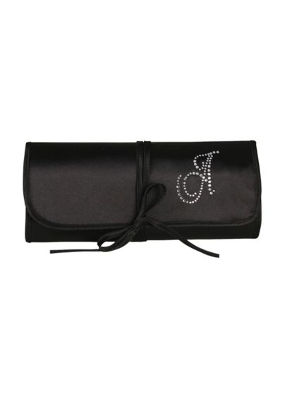 Personalized Rhinestone Initial Jewelry Roll - Wedding Gifts & Decorations