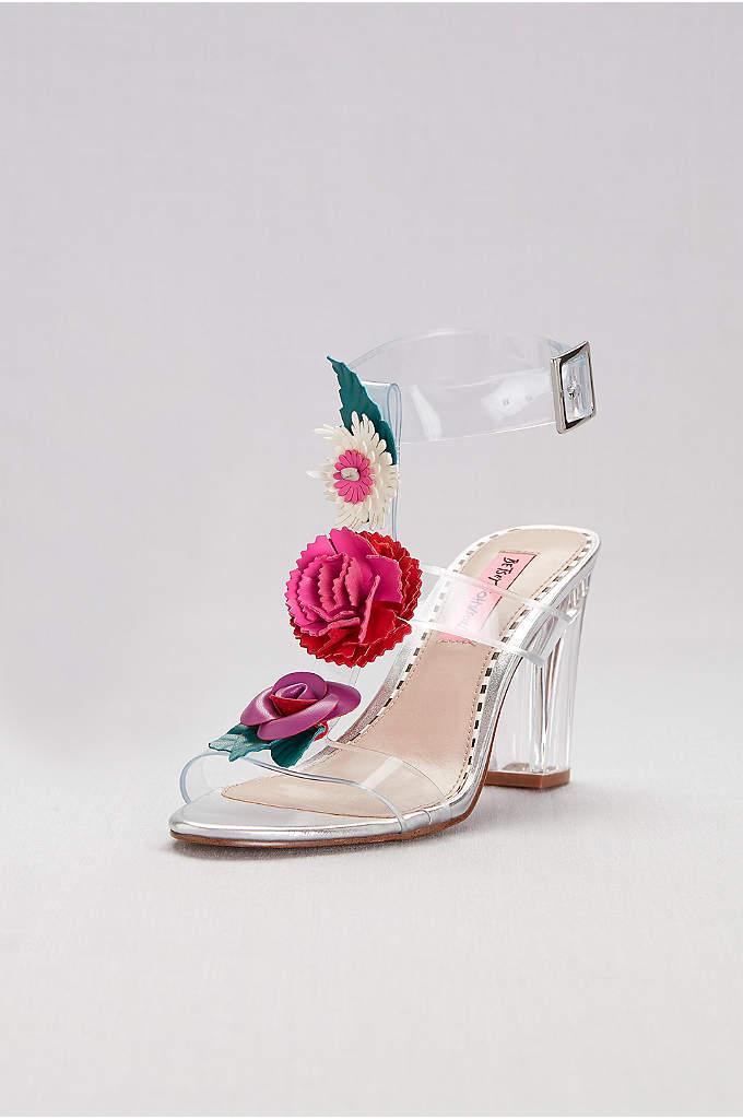 Block Heel Sandal With Embellished Strap David S Bridal