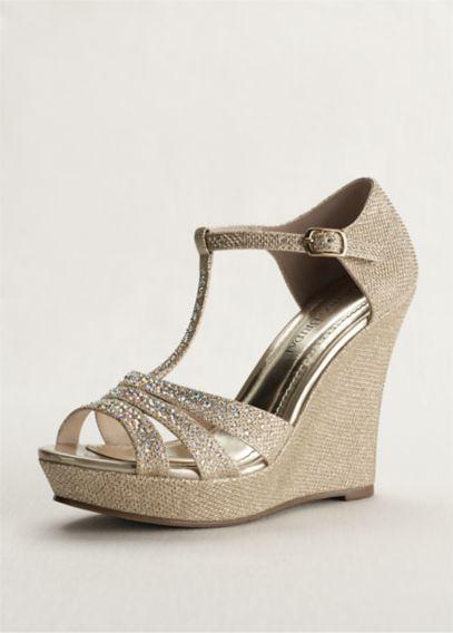 Glitter Wedge Sandal Glitter t Strap Wedge Sandal