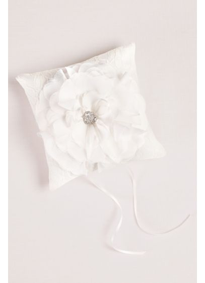 Ivory (Layered Flower Ring Pillow)