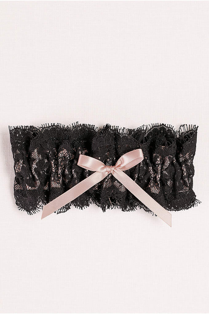 Layered Lace Garter with Satin Bow - Sultry but classic, this lace garter checks all