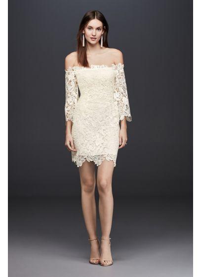 Short Sheath Beach Wedding Dress - ASTR