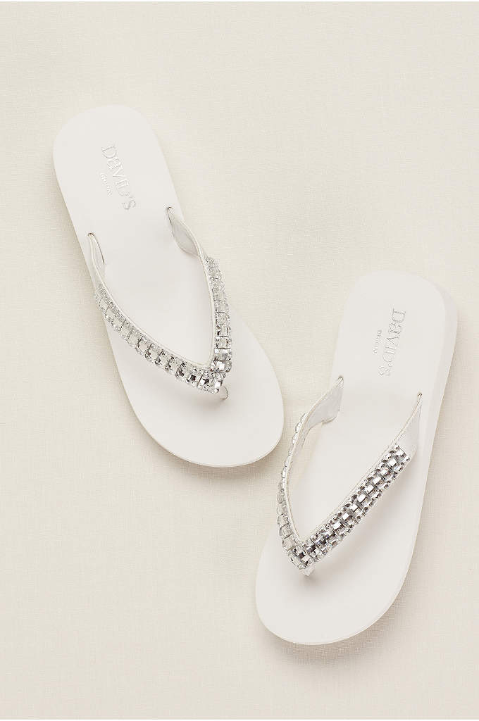 Platform Flip Flop with Crystal Accents - The perfect shoe to say