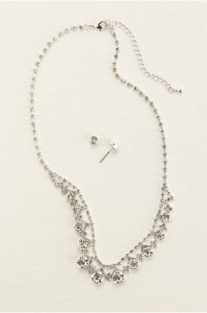 Classic Crystal Necklace and Earring Set - A simple and timeless style that is a