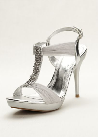 High Heel Sandal with Crystal T-Strap AELIZE12
