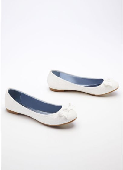 Ivory (Ballet Flat with Bow Tie Detail)