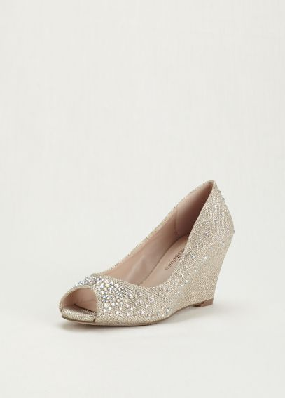 Peep Toe Wedge with Embellishment AHALF3