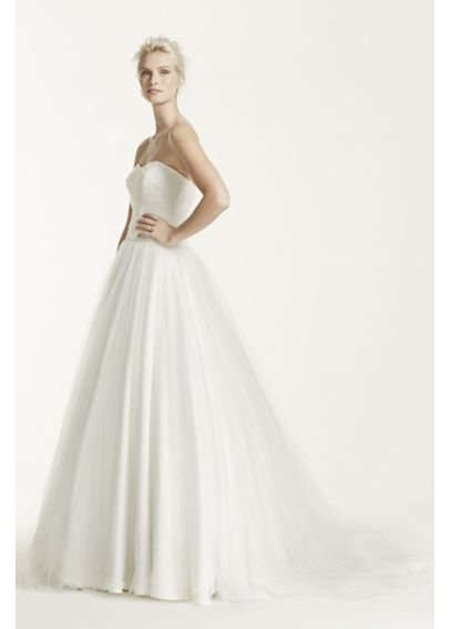 Ruched Bodice Tulle Ball Gown AI10012274