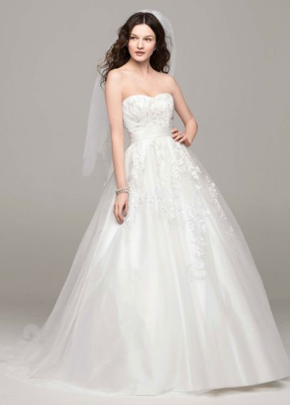 Strapless Tulle Ball Gown with Beaded Appliques AI10012335