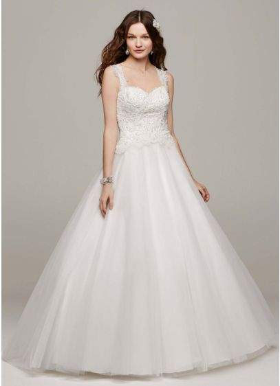 Tulle Ball Gown With Illusion Back Detail