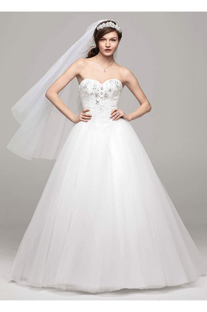 As-Is Beaded Bodice Tulle Wedding Dress - Create enchanting moments on your special day in