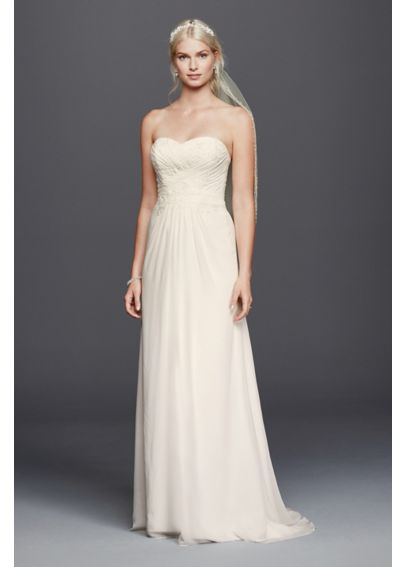 As-Is Chiffon Lace Sweetheart Wedding Dress  AI10012423