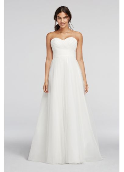 As-Is Strapless Sweetheart Tulle Wedding Dress AI10012450