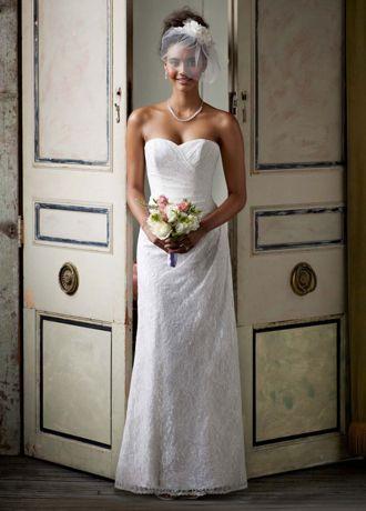 wedding dress sweetheart sheath