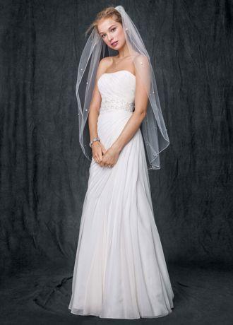 short halter chiffon wedding dress asymmetrical
