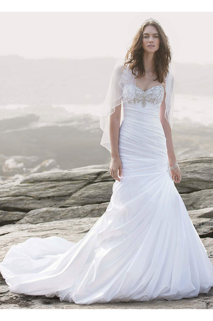 Strapless Sweetheart Trumpet Wedding Gown - Showcasing intricate accents in all the right places