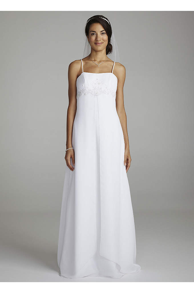 Spaghetti Strap Chiffon Split Fron Gown - This gown is the perfect combination of modern