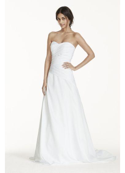 Strapless a line drop waist wedding dress davids bridal for How to start a wedding dress shop