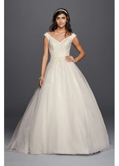 As-Is Jewel Tank Tulle Wedding Dress with Lace  AI12010102