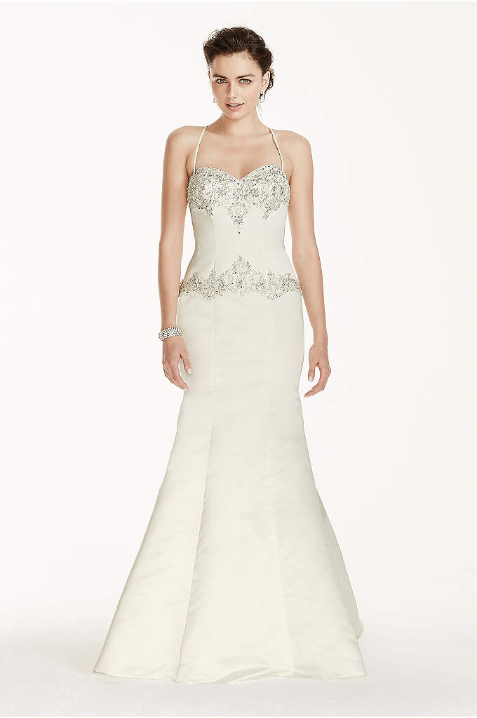 As-Is Spaghetti Strap Mermaid Wedding Dress - Giving modern day flair, this mermaid gown with
