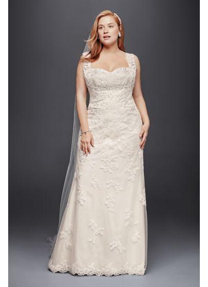 As Is Sheath Wedding Dress With Tank Straps