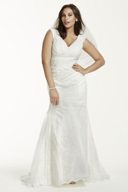 as is the shoulder plus size wedding dress david s bridal