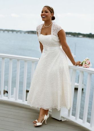 Tea Length Gowns with Sleeves