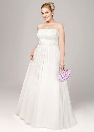 Empire wedding dress chiffon