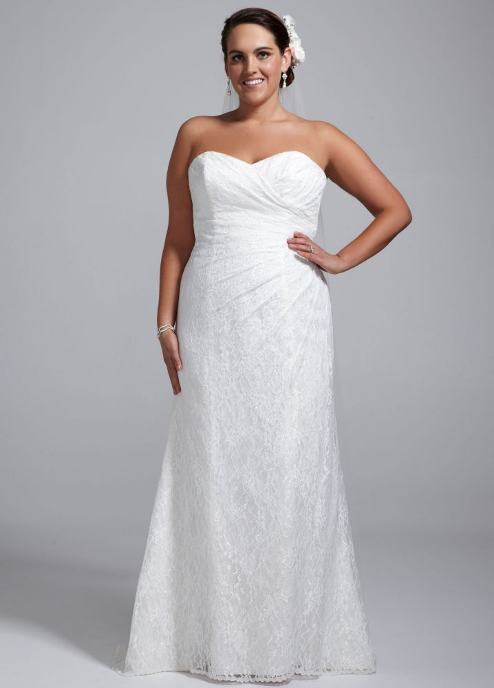 Sample strapless sweetheart lace wedding dress style for Wedding dresses not strapless